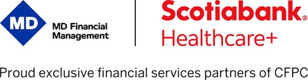 MD Financial Management and Scotiabank logos
