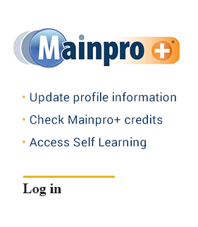 Mainpro+ - Update profile information -Check Mainpro + credits - Access Self Learning - Read More